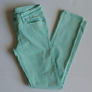 Aeropostale Mint Green Bayla Skinny Jeans